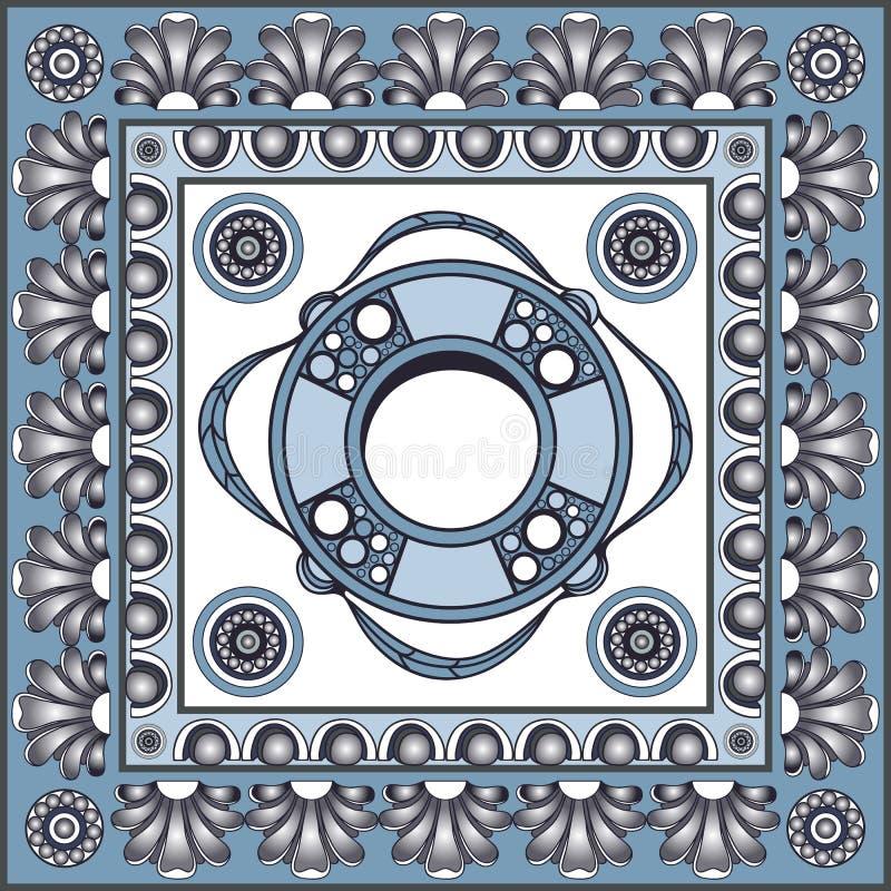Grafisk illustration med keramiska tegelplattor 13 royaltyfri illustrationer