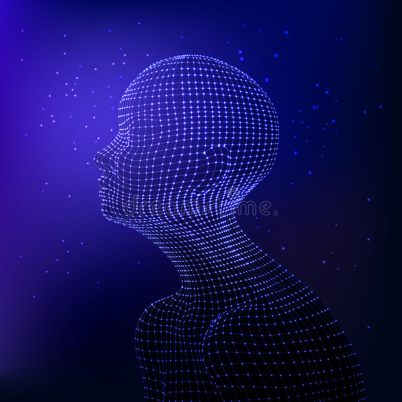 Grafisk konstgjord intelligens vektor illustrationer