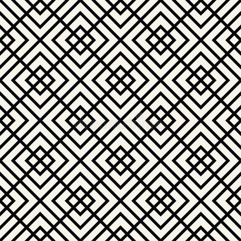 grafisk modell för geometriskt minsta fyrkantigt raster stock illustrationer