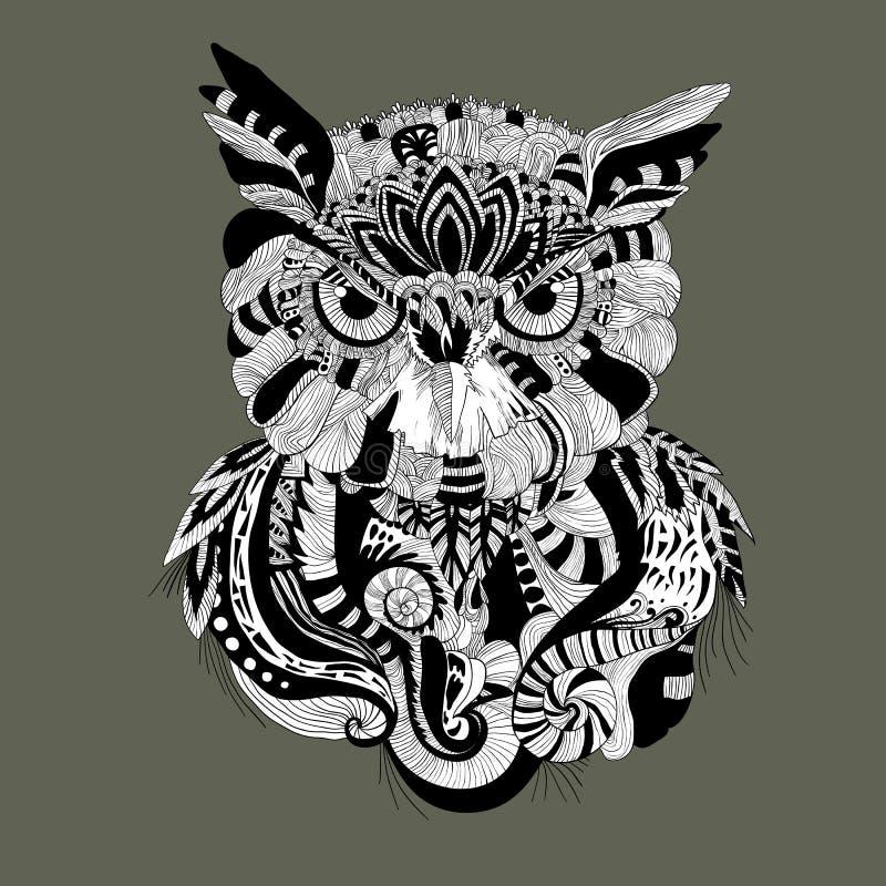 Grafisk owl royaltyfri bild