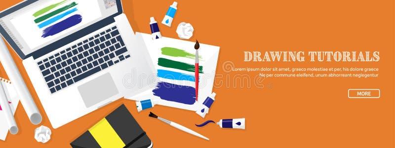 Grafisk rengöringsdukdesign Teckning och målning utveckling Illustration som skissar, frilans Användargränssnitt Ui Dator royaltyfri illustrationer