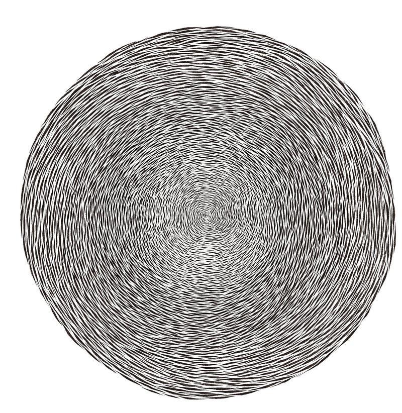Grafisk svartvit labyrintlabyrint royaltyfri bild