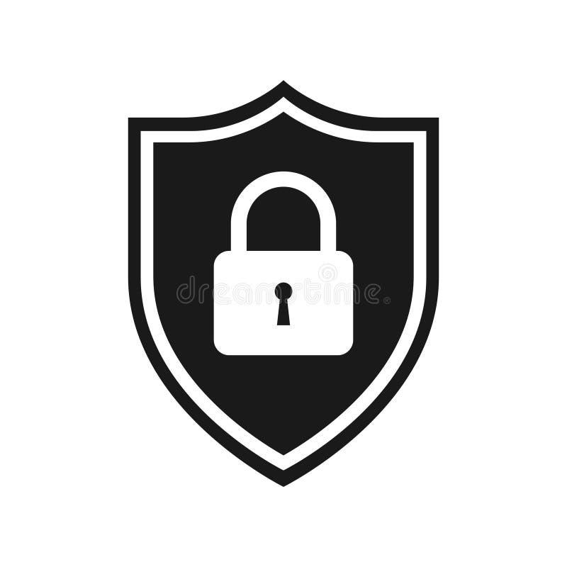 Grafisk svartvit symbol för rengöringsdukskydd vektor illustrationer