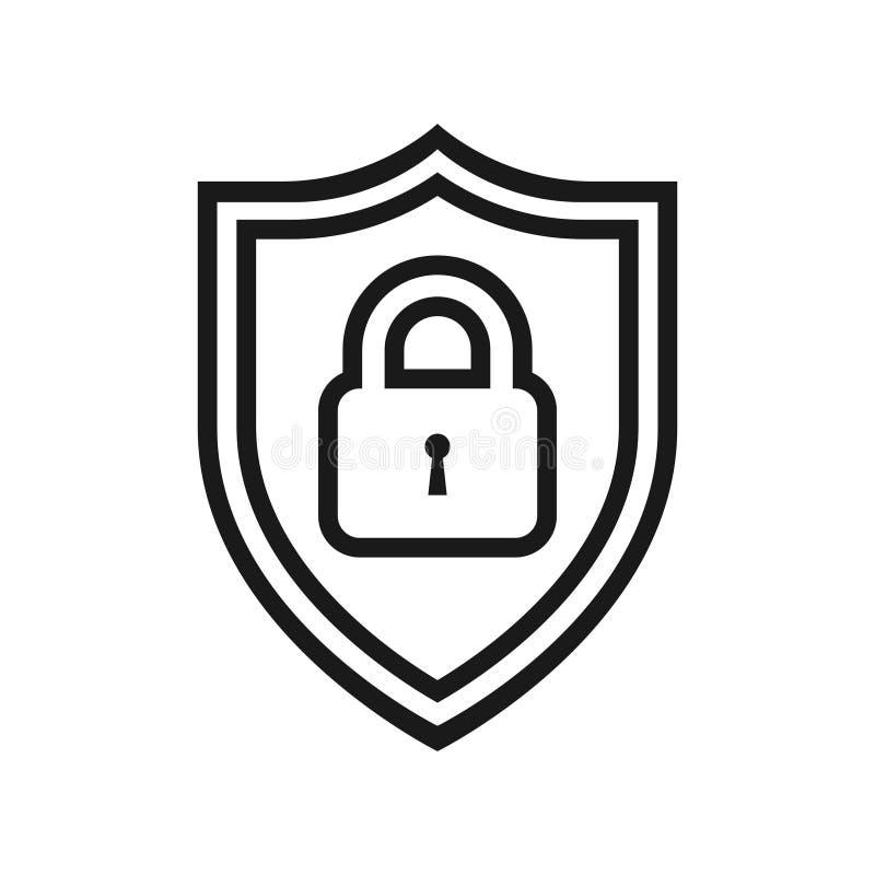 Grafisk svartvit symbol f?r reng?ringsdukskydd vektor illustrationer