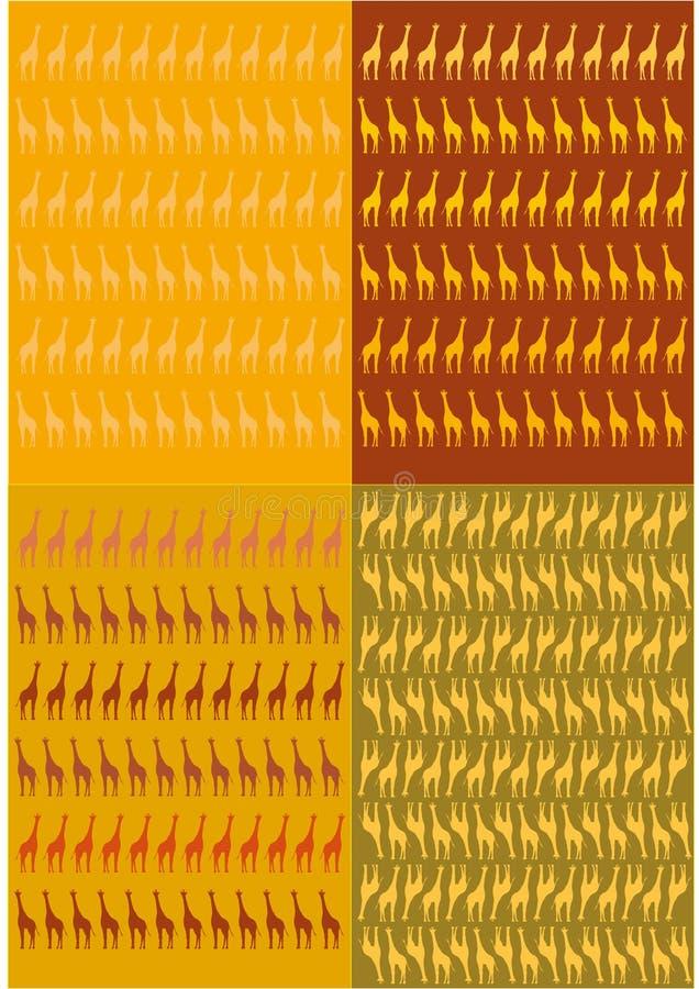 Grafisk teckning för giraff royaltyfri fotografi