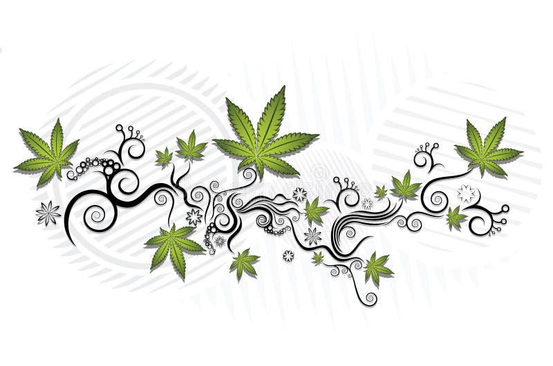 Grafisk texturbakgrund för marijuana vektor illustrationer