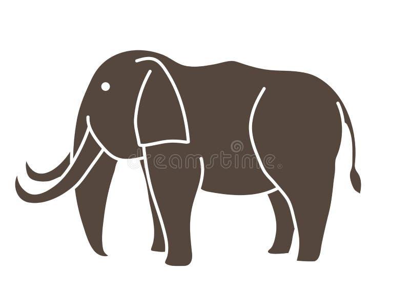 Grafisk vektor för elefanttecknad film vektor illustrationer