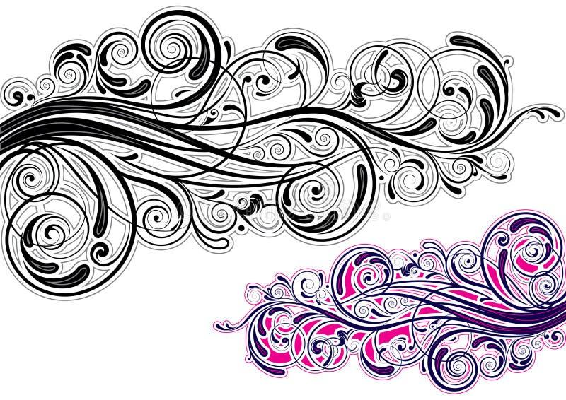 Grafisk virveldesign royaltyfri illustrationer