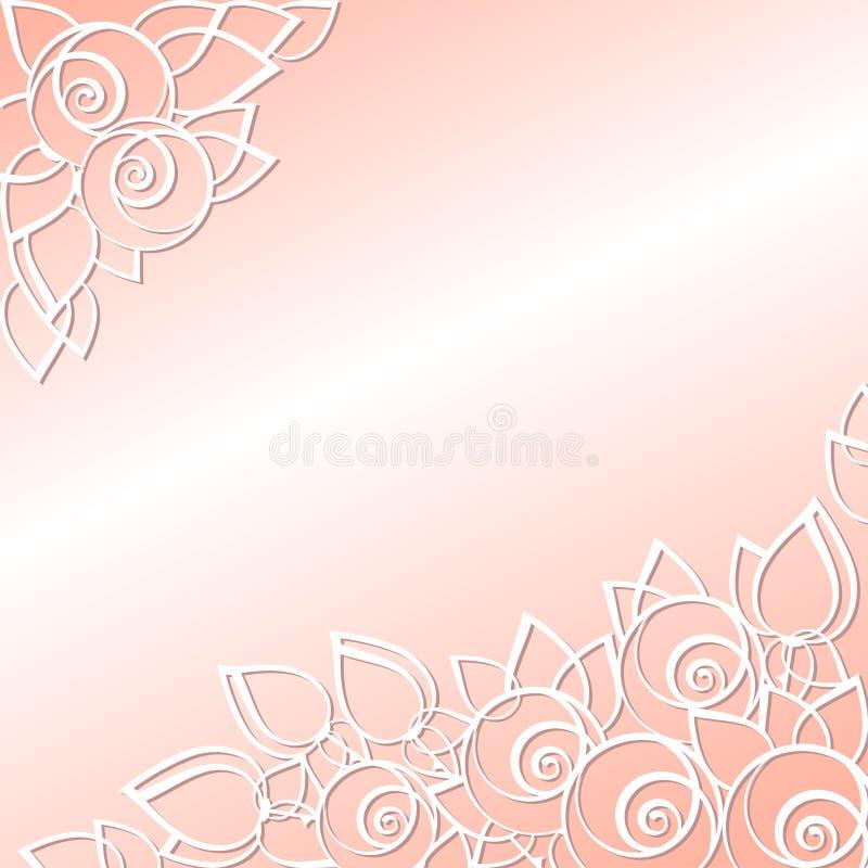 Grafiskt blom- bakgrund för ferierna vektor illustrationer