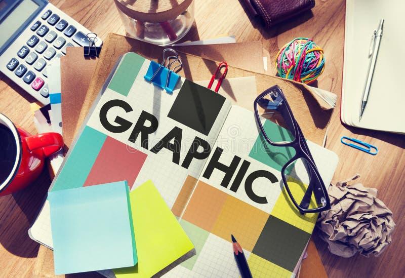 Grafiskt idérikt designvisuellt hjälpmedel Art Concept arkivfoton