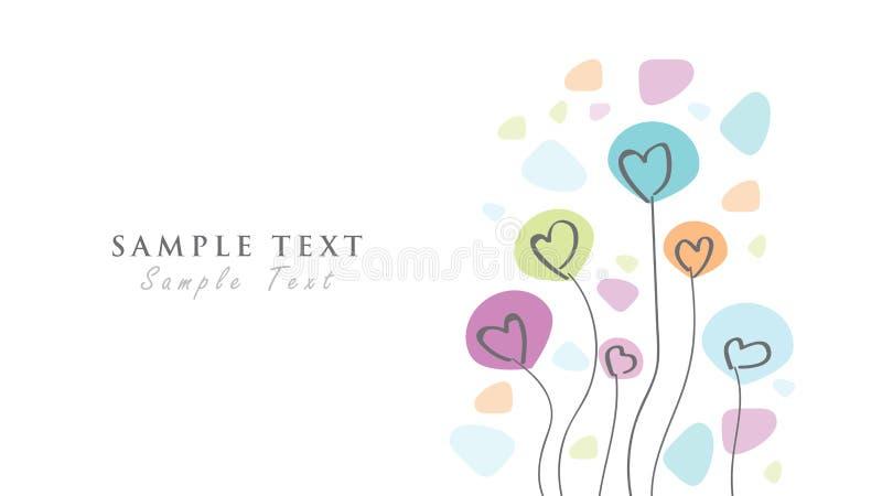 Grafiskt parti för källhälsningkort, hälsningar, födelsedag, Valentine& x27; s-dag vektor illustrationer