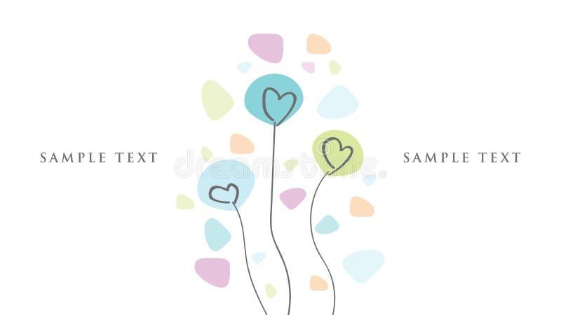 Grafiskt parti för källhälsningkort, hälsningar, födelsedag, Valentine& x27; s-dag stock illustrationer