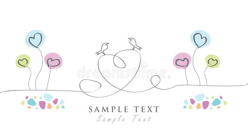 Grafiskt parti för källhälsningkort, hälsningar, födelsedag, Valentine& x27; s-dag royaltyfri illustrationer