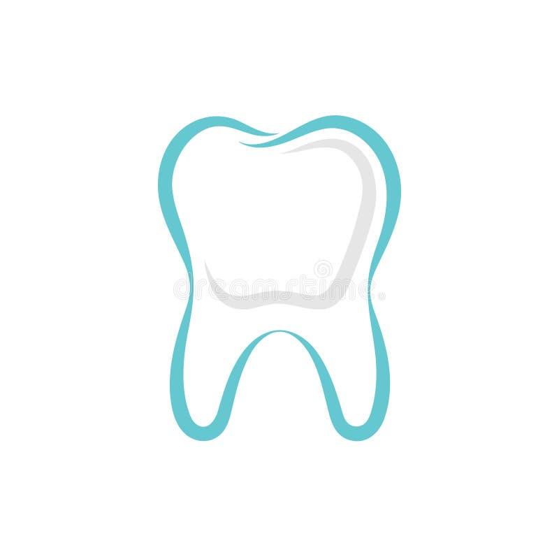 Grafiskt tecken för tand vektor illustrationer