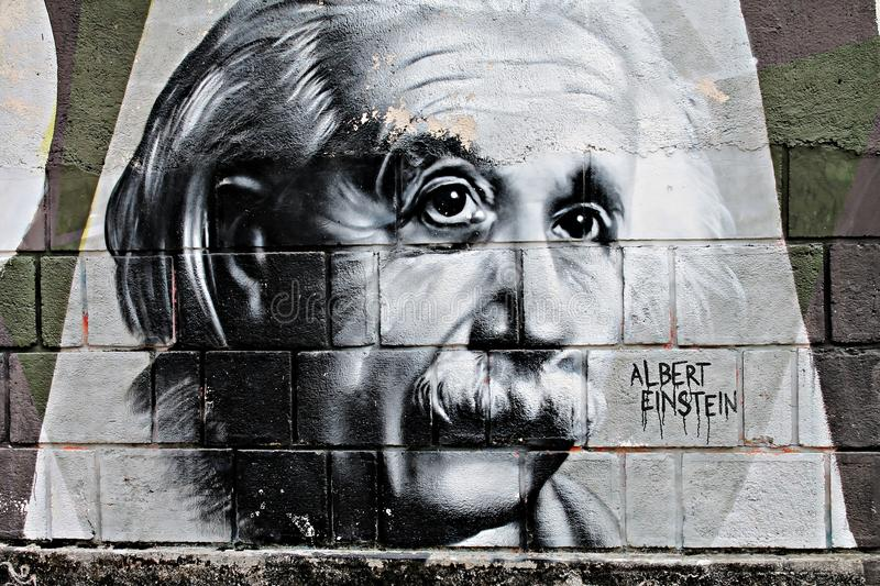 Grafit Einstein obrazy royalty free