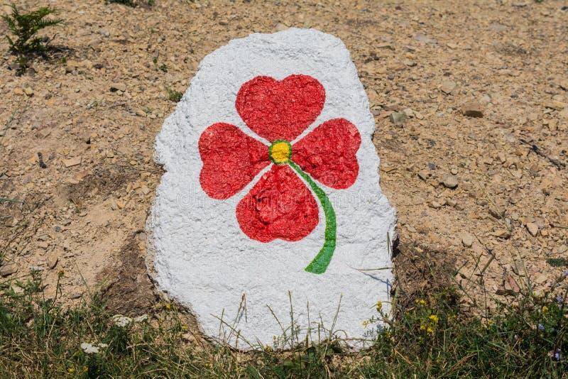 Grafit kwitnie na kamieniu zdjęcia stock