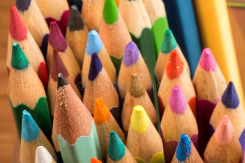 Grafite e matite colorate immagine stock libera da diritti