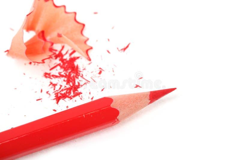 Grafite semplice e matite rosse fotografia stock