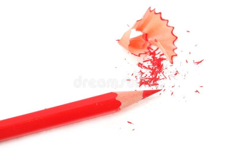 Grafite semplice e matite rosse immagini stock libere da diritti