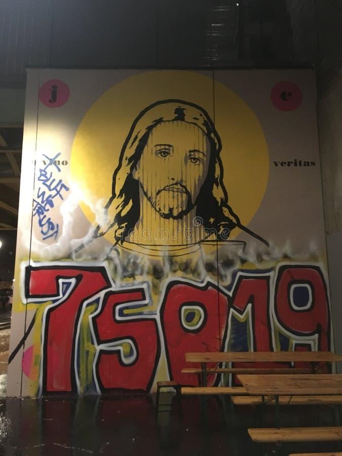 Grafiti Jesús immagini stock libere da diritti