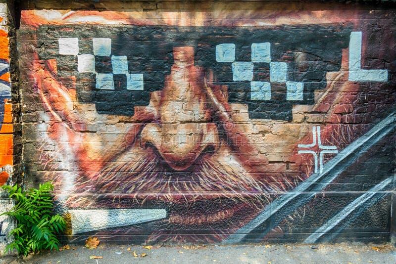 Grafito de la calle en Belgrado imagen de archivo libre de regalías