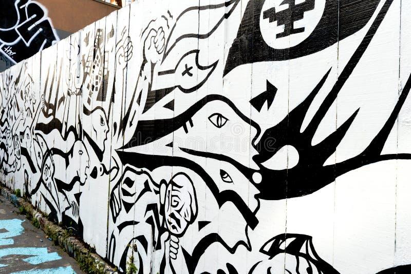 Grafitti Art in San Francisco, California royalty free stock photos