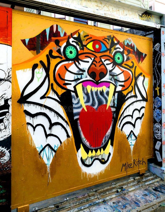 Grafitti Art in San Francisco, California stock image