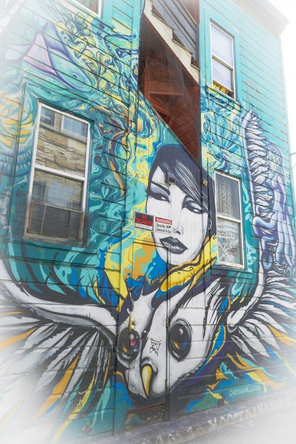 Grafitti Art in San Francisco, California stock photography