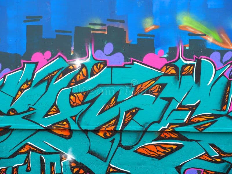 Grafitti Art On Wall royaltyfria foton