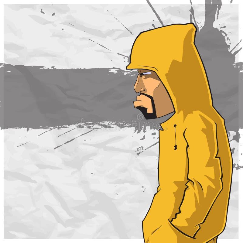 Grafitti characte.on. vektor illustrationer