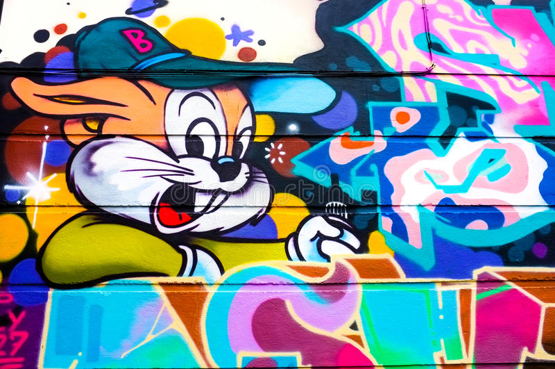Grafitti för kaninkanin royaltyfri illustrationer