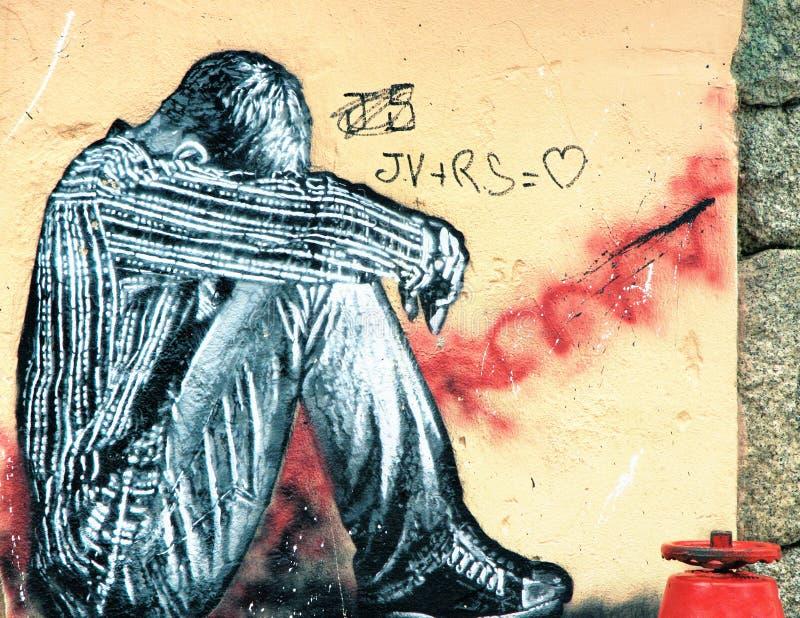 Grafitti - gatakonst arkivbild