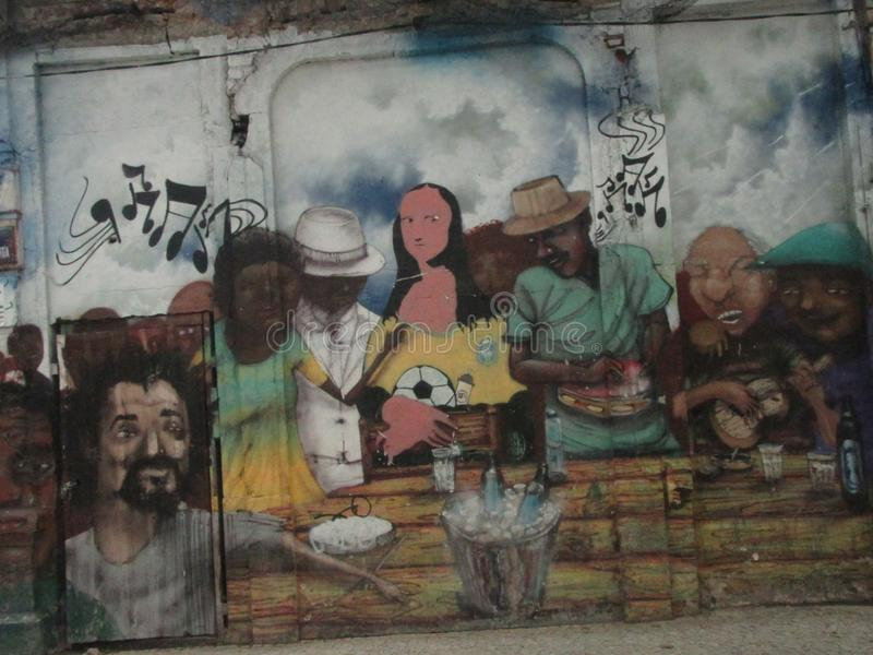 Grafitti i gatorna av Rio de Janeiro fotografering för bildbyråer