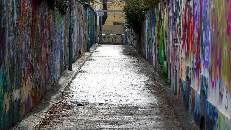 Grafitti i Wien, Österrike arkivfoto