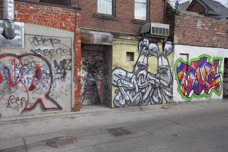 Grafitti at kensington market toronto stock photography