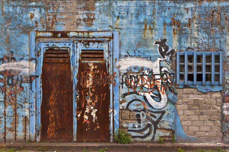 Grafitti. On a old facade stock photography