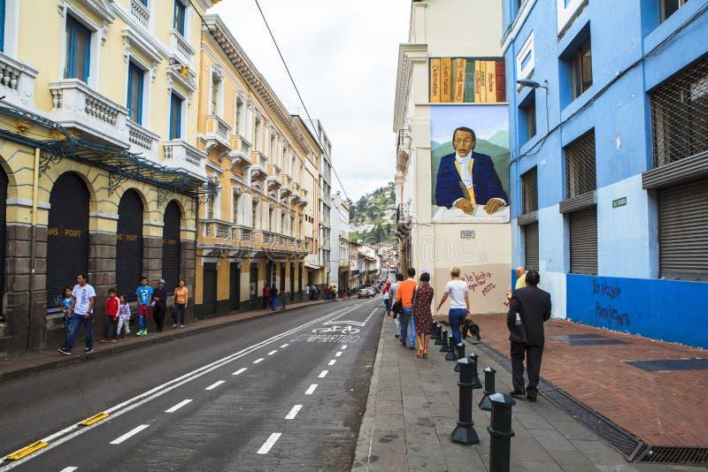 Grafitti på gatan av Quito, Ecuador arkivfoto