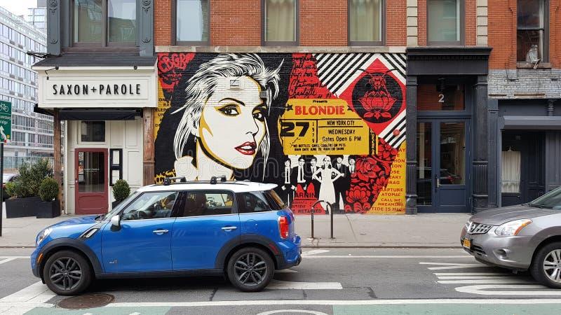 Grafitti på gator, New York City, NY arkivbilder