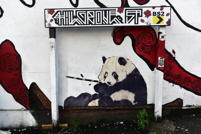 Grafitti Panda Bear royaltyfri bild