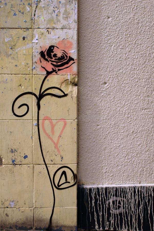 grafitti steg arkivbilder