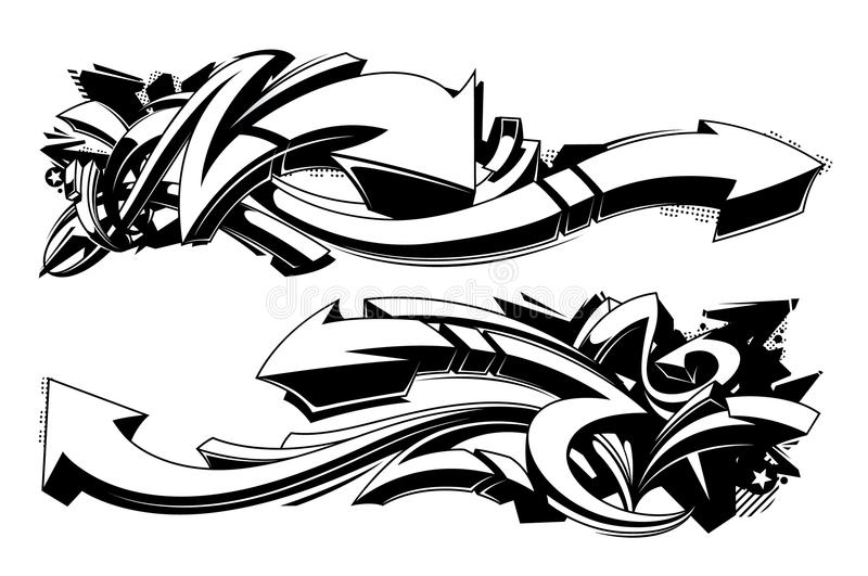 Grafittibakgrund royaltyfri illustrationer