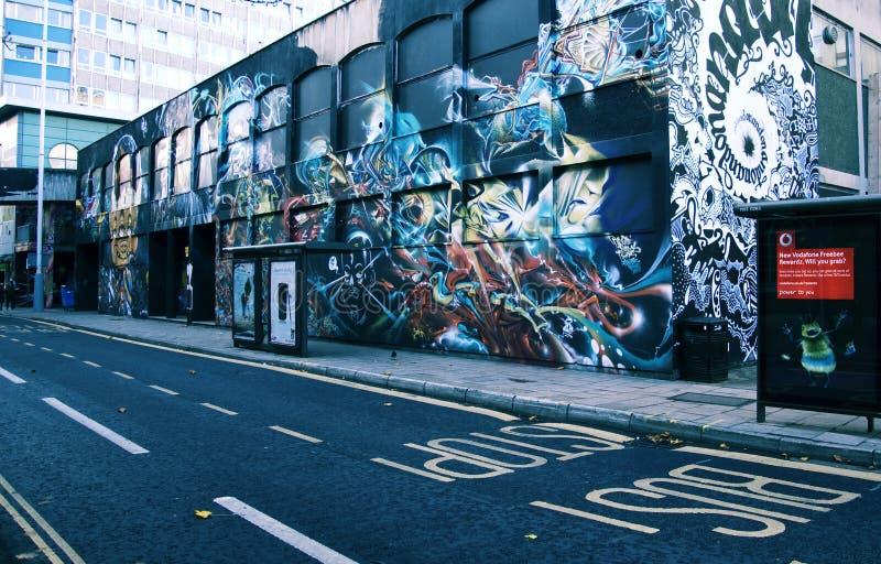 Grafittigatakonst i Bristol arkivfoto