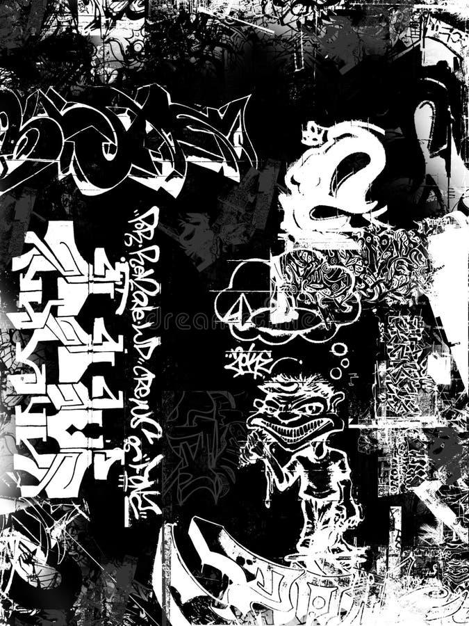 grafittigrunge royaltyfri illustrationer
