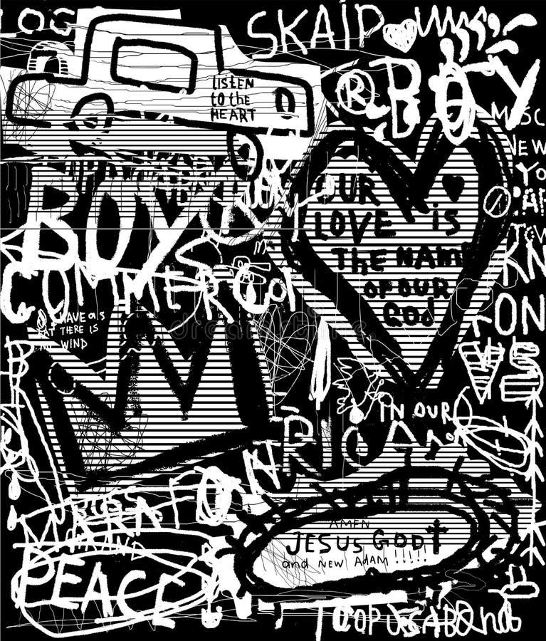 Grafittis ilustração royalty free