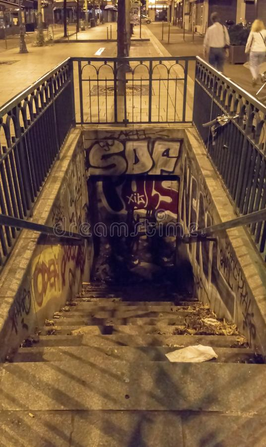 Grafittis abandonados SDF imagem de stock royalty free