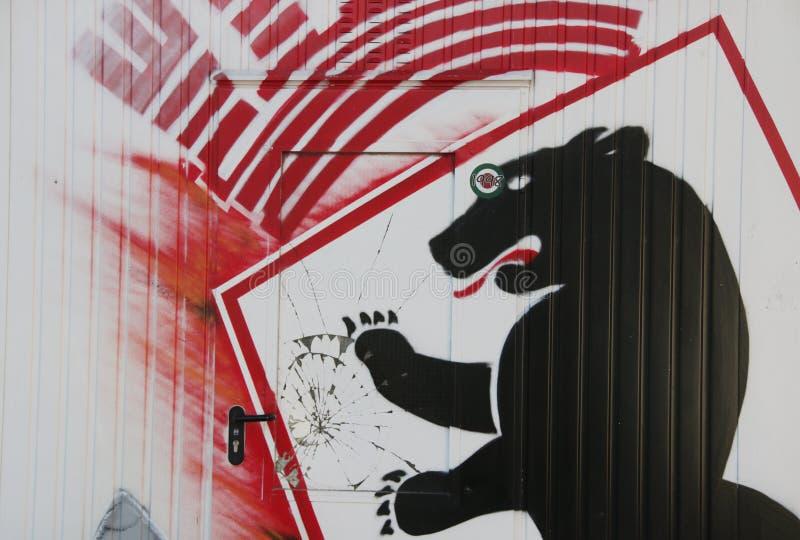 Grafittis bonitos da arte da rua fotografia de stock royalty free