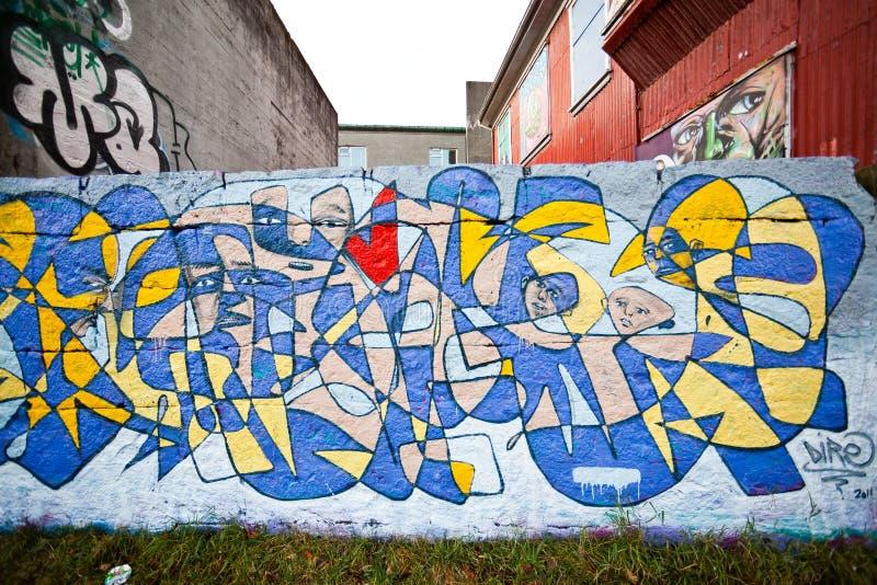 Grafittis coloridos fotografia de stock