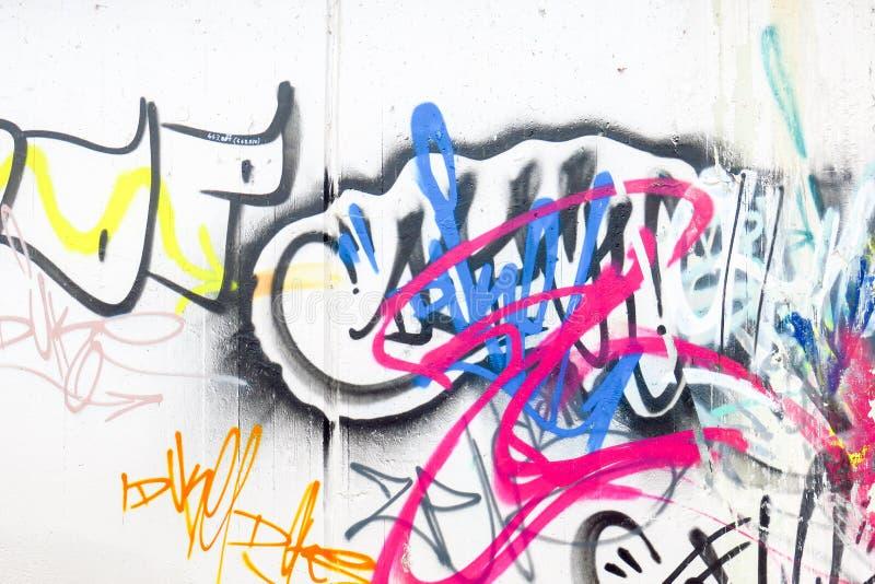 Grafittis coloridos fotografia de stock royalty free