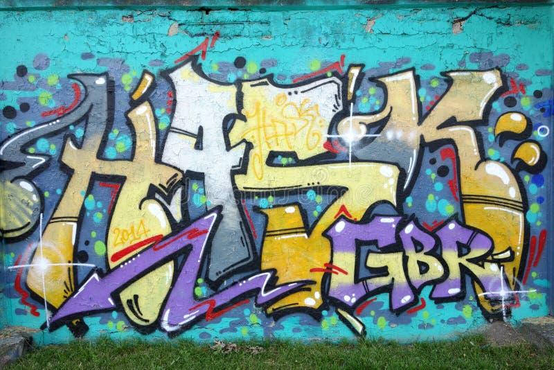 Grafittis da parede imagem de stock