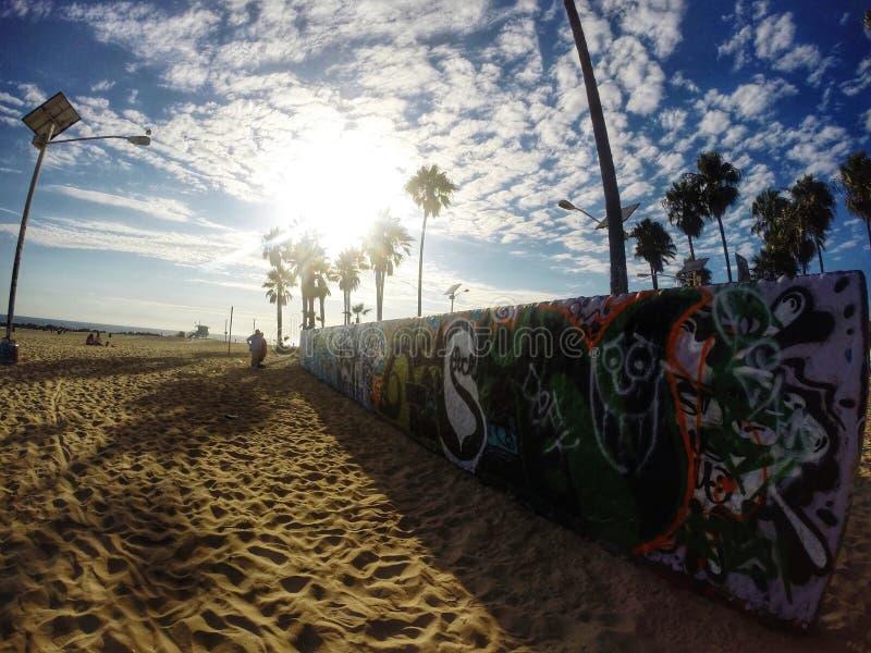 Grafittis da praia de Veneza imagens de stock royalty free